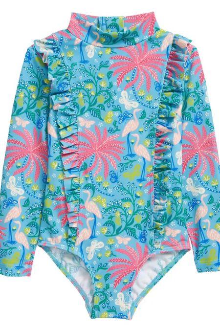 Little girl long sleeve rashguard swimsuit #LTKfamily #LTKkids #LTKunder50 http://liketk.it/3g6La #liketkit @liketoknow.it