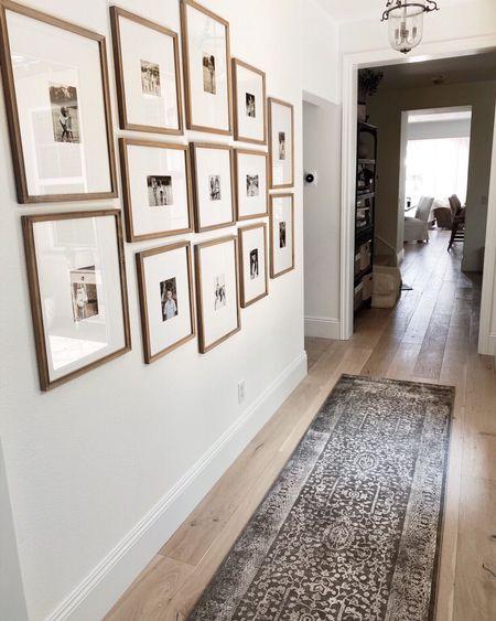 Hallway, runner rug, picture frame,   #LTKhome #LTKunder50 #LTKunder100