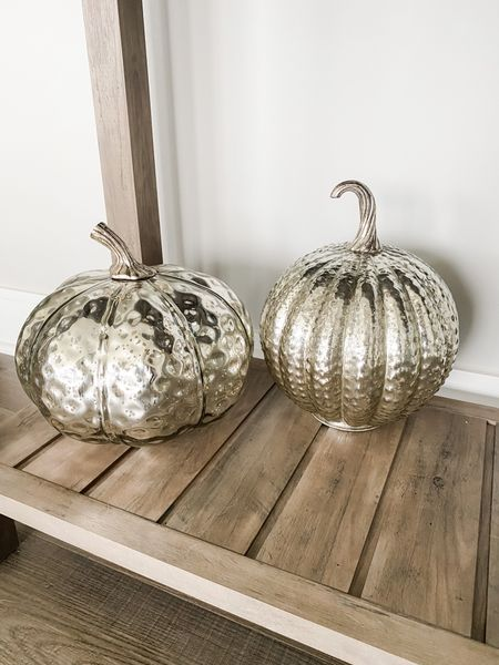 I absolutely love fall decor! Sometimes it can be the simplest touches with decor that make a room or a home feel like the season. These silver glass pumpkins are a new favorite in my home to do just that.     #LTKSeasonal #LTKunder50 #LTKhome