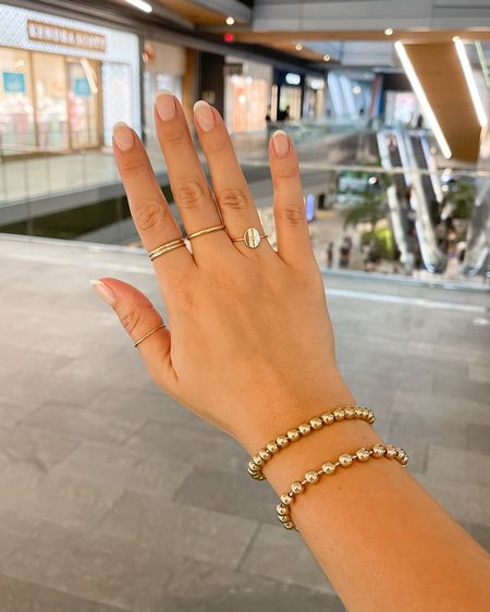 New Made by Mary rings. Dainty gold rings and personalized M ring. http://liketk.it/3iXGe #liketkit @liketoknow.it #LTKunder50 #LTKunder100 #LTKstyletip
