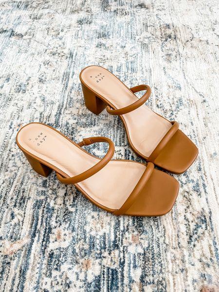 Love these double band block heels from Target for $20!   #LTKshoecrush #LTKSeasonal #LTKstyletip