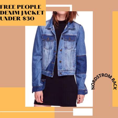 Free People Rumors Denim Jacket for under $30. Huge savings!! 🙌🏼 http://liketk.it/3dai6 #liketkit @liketoknow.it #LTKsalealert #LTKstyletip #LTKunder50