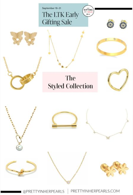 LTK Early Gifting exclusive app sale is right around the corner! Here's my favorite necklaces, earrings, and bracelets from The Styled Collection.   #LTKSale #LTKunder50 #LTKwedding