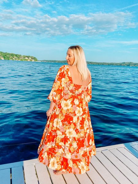 In my next life, I think I'll come back as this dress ❤️🧡💛💗 How amazing is this dress?! It comes in XS-3X and is also available in a solid. I'm wearing the 1X and am about to hop on stories to chat fit and print!   #LTKcurves
