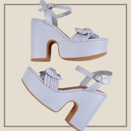 Pleather bow decor platform sandals   #LTKshoecrush #LTKunder50 #LTKstyletip