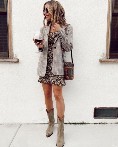 date night, boots, blazer, dress  #LTKstyletip