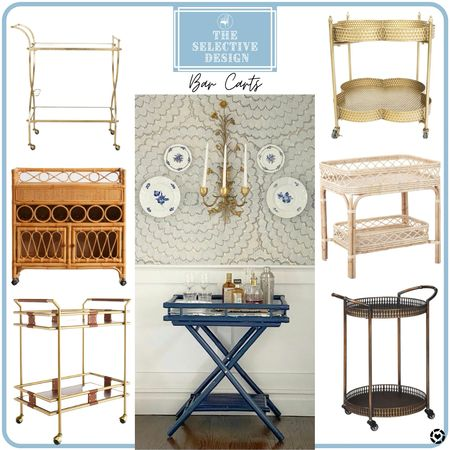 Bar carts are the perfect size to park in that empty spot in your dining room!  #LTKhome #LTKfamily #LTKsalealert