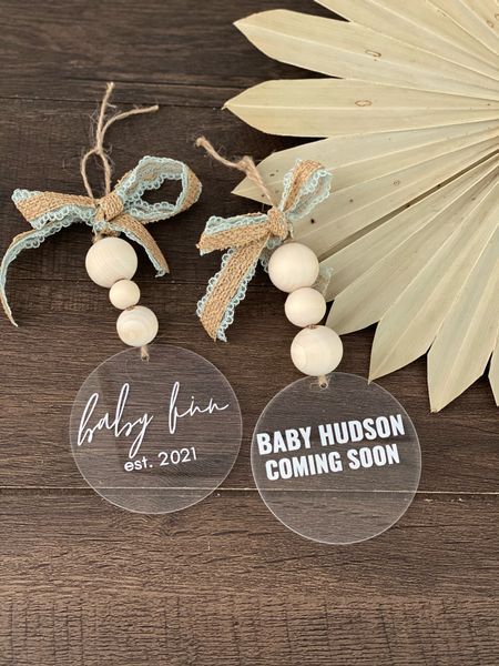 Gift idea / Baby announcement  boho baby ornament / baby announcement / personalized ornament / personalization / Christmas / Christmas ornament / Christmas Gift Idea     #LTKGiftGuide #LTKbump #LTKHoliday