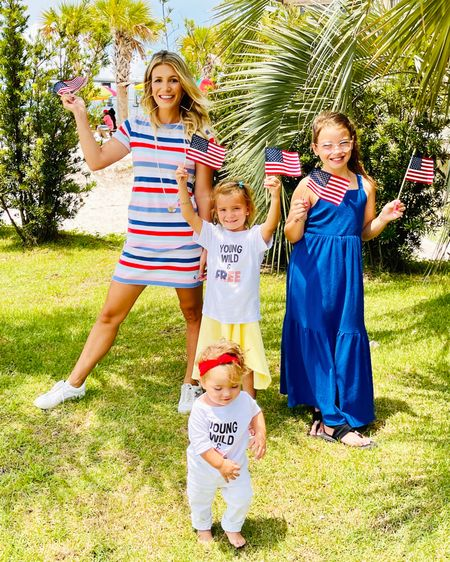 Celebrating the 4th with the cutest striped dress. It fits in all the right places and is a great length for still chasing around the kids (mid thigh) #liketkit #LTKfamily @liketoknow.it http://liketk.it/3j1uY