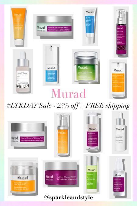 LTK Day Sale: Murad - 25% off and FREE shipping   http://liketk.it/3hyYw @liketoknow.it #liketkit #LTKDay #LTKsalealert #LTKbeauty   Skincare, moisturizer, face peel, resurfacing treatment, spf, serum, face oil, night cream, custom face serum, dark circle corrector, dark spot corrector, exfoliating facial