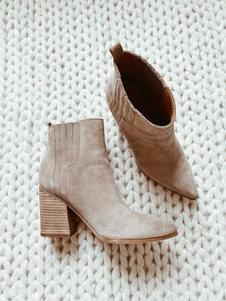 Marc Fisher Alva suede ankle boots - fit tts   #LTKshoecrush #LTKstyletip #LTKSeasonal