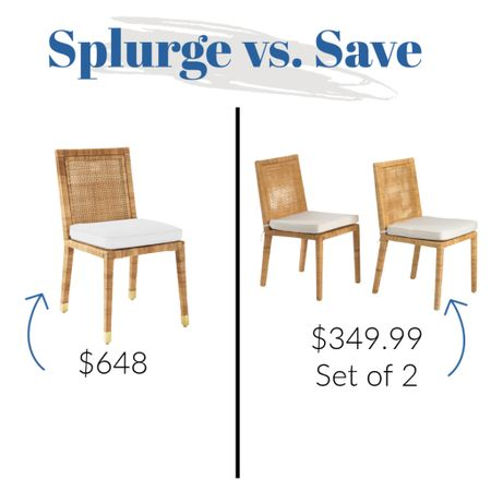 Serena and Lily Balboa chair dupe!     #LTKsalealert #LTKunder100 #LTKhome