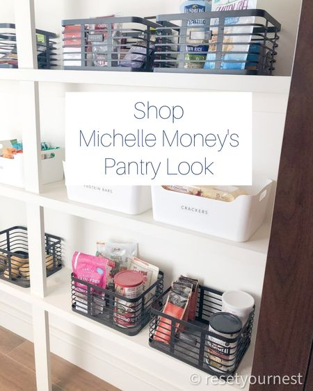 Shop Michelle Money's Pantry Look, organized and designed by the Reset Your Nest team! http://liketk.it/3kSft @liketoknow.it #liketkit @liketoknow.it.home #LTKhome