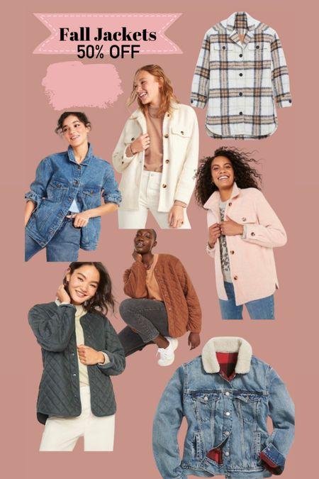 Shackets and other jackets 50% off   #LTKSeasonal #LTKstyletip #LTKsalealert