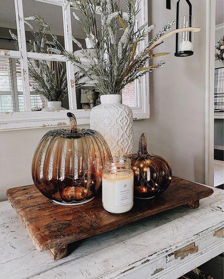 Living room with fall vignette // lots on sale right now. Farmhouse style http://liketk.it/2Wzy2 #LTKhome #LTKunder100 #LTKsalealert #liketkit @liketoknow.it @liketoknow.it.home