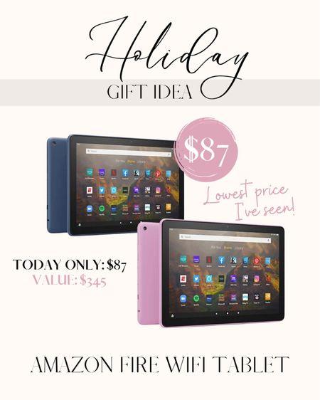 Amazon tablet on sale. Holiday gift idea