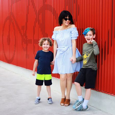 We are at the first stop on our family date day (all planned using the @orostext app) - The Thinkery in Austin! Follow my Instagram Story today to see what we're up to, but I'll be posting all the details on the blog this week. For now you can get details on my outfit (including my summery @amiclubwear dress and my go-to mules from @justfabonline) on @liketoknow.it here: http://liketk.it/2vOob #liketkit #justfabstyle #stylesquad #ambsdr #amiclubwear #fabfam #oros #ad