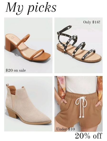 20% off Target shoes and shorts. No code needed. My target finds picks from the sale. I will likely be ordering all of these! 😀 http://liketk.it/3lKVF @liketoknow.it #liketkit #LTKsalealert #LTKunder50 #LTKunder100 #LTKshoecrush #LTKfamily #LTKworkwear