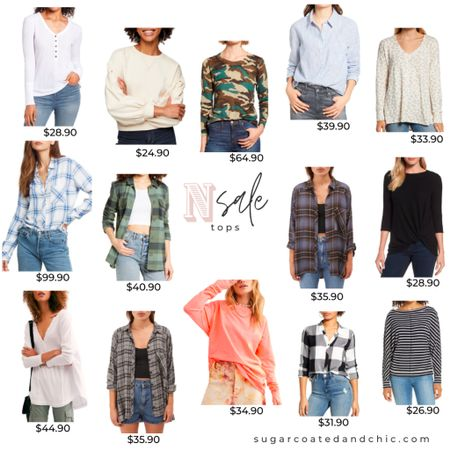 Nsale tops, blouses, and everyday basics! Perfect for fall and layering!  #LTKsalealert #LTKstyletip #StayHomeWithLTK #nsale2020 #nsale #styleinspo #nordstrom http://liketk.it/2THpH #liketkit @liketoknow.it