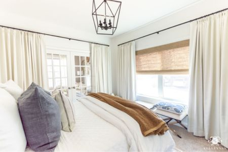 Inside view of my downstairs guest room. Home decor bedroom decor x bench linen pillow white bedding teddy bear throw jute rug  #LTKhome #LTKfamily #LTKstyletip
