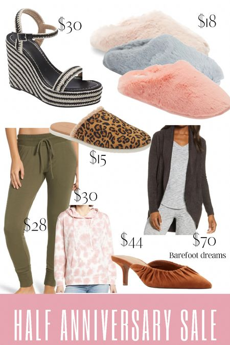 Nordstrom half anniversary sale with up to 50% off. Slippers. Barefoot dreams. Summer sandals for vacation or the beach! Lounge wear  #LTKSeasonal #LTKunder50 #LTKsalealert