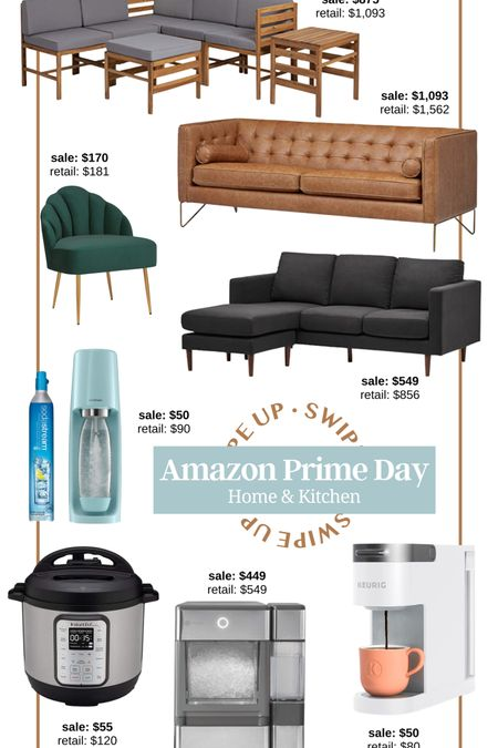 Amazon prime day 2021! Amazon prime home decor amazon kitchen appliance amazon furniture brown leather couch wood outdoor sectional gray sectional living room furniture accent chair home decor soda stream instant pot keurig coffee maker ice machine nugget ice stainless steel appliance amazon kitchen sale kitchen house warming gift gift for her gift for parent gift for him #LTKsalealert #LTKhome #LTKunder100 http://liketk.it/3i6sZ #liketkit @liketoknow.it