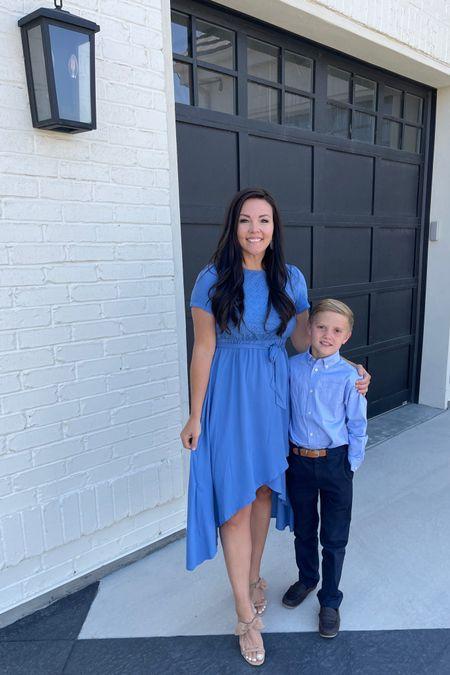 Sunday best blue sundress ans bow heels   http://liketk.it/3hzfc @liketoknow.it.family #liketkit @liketoknow.it #LTKunder50 amazon finds  Amazon fashion