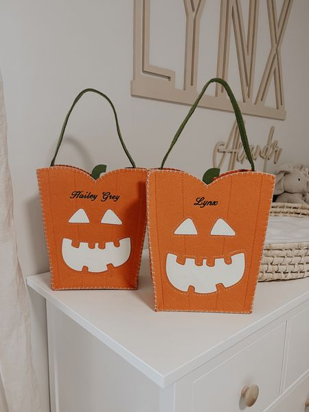 Halloween treat bags for the kids, you can also customize with their names 🎃   #LTKkids #LTKSeasonal #LTKbacktoschool