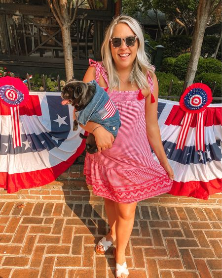 Happy 4th of July! 🇺🇸🧨 found this super cute gingham dress for July Fourth but such a cute Summer dress all around! Summer outfits, gingham dress, Vacation Outfit, Beach vacation, Old Navy dress @liketoknow.it #liketkit #LTKunder50 #LTKstyletip  #LTKSeasonal #competition #LTKunder100 http://liketk.it/3j1cT