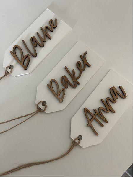 Stocking name tags   #LTKfamily #LTKSeasonal #LTKhome
