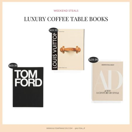 A few of my favorite luxury coffee table books by Tom Ford, Architectural Digest and Louis Vuitton. Grab yours before it's gone! @liketoknow.it #liketkit http://liketk.it/3ip4y
