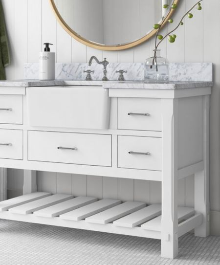 Memorial Day Sale—White is forever timeless. This stunning white modern farmhouse bath sink will  add a touch of refined vibe to your space.   #LTKhome #LTKsalealert