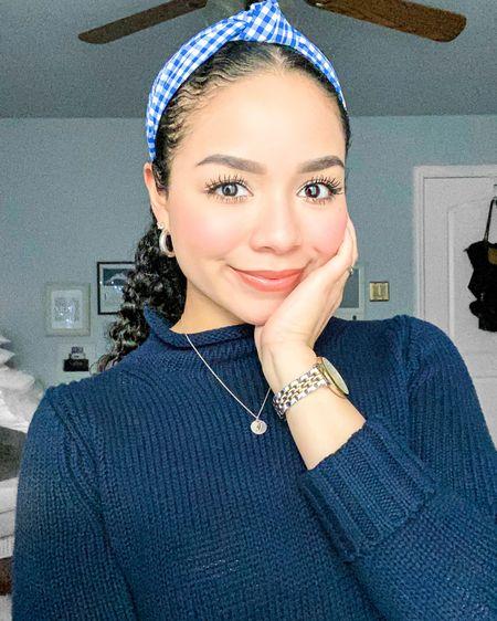 Loving the blue tones on this rainy day! ✨ Sweater: J. Crew (XXS) Headband: J. Crew Earrings: Argento Vivo (Linked Similar) Watch: Fossil Lip Balm: Fresh Sugar Lip Treatment (Spice) http://liketk.it/2R7f1 #liketkit @liketoknow.it #StayHomeWithLTK #LTKbeauty