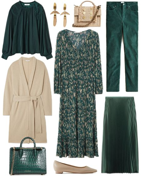 Loving this bottle green hue right now! Such a great color for the fall & winter season 🦚 Both of these handbags are included in the Shopbop sale today! Use code STYLE at checkout for a discount.   #tssedited #thestylescribe #sale #colorful #shopbop #cardigan #workwear #colorcrush  #LTKSeasonal #LTKworkwear #LTKsalealert