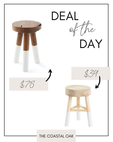 Dip dyed stool, look for less, Serena & Lily, Marshall's, kids room, coastal, beach house, nursery, bathroom, stool    #LTKunder100 #LTKunder50 #LTKhome