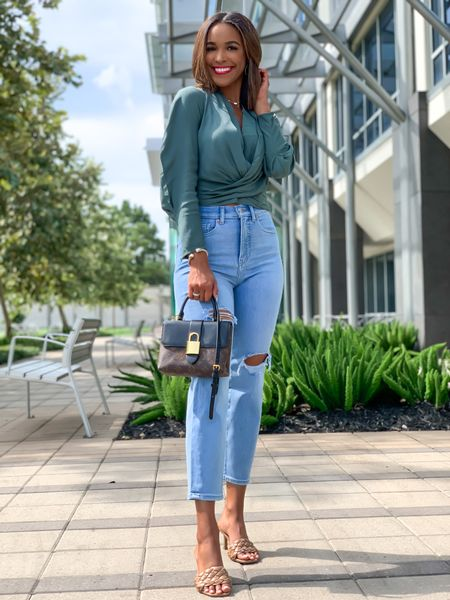 Express fall look!  XS in top and 0 in high waisted jeans    #LTKunder100 #LTKSeasonal #LTKstyletip