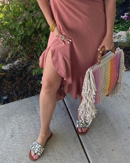 When your shoes keep keep distracting you💕🌸 . Perfectly Pink Summer style🌸  Easy to wear Summer dress under $45 . Run and get this BAG it's so good… the quality is like an expensive bag, great storage and perfect summer colors and it's under $30 . These Fab slides have been on repeat 🌸🌸🌸 Summer sandals  you can't live without✔️ . . .  You can instantly shop my looks by following me on the LIKEtoKNOW.it shopping app Download the LIKEtoKNOW.it shopping app to shop this pic via screenshot http://liketk.it/3gTPU #liketkit @liketoknow.it #LTKshoecrush #LTKstyletip  . . #summerstyle #summerdresses #summersandals #summeroutfit #summerbags #summerloving #travel #summertravel #thingsilove # summerstyle