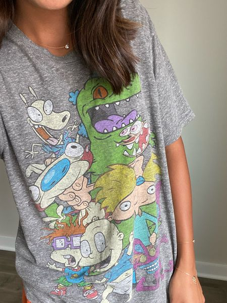 love a good '90s throwback yes to lounge in 😏  mine was stolen from my husband's closet so it's def old and not sure where it's from but found a ton of similar ones on Amazon! size up one for a loungey fit like mine!   #amazonfinds #amazonfashion #90sfashion #rugrats #nickelodeon   #LTKunder50 #LTKfamily #LTKkids
