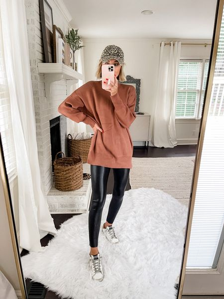 Cozy Abercrombie top in a great fall color! Loverly Grey has paired this with a legging.   #LTKstyletip