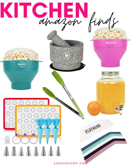 Check out these super cute and affordable kitchen must haves from Amazon! 👩🏻🍳  #beveragedispenser#Estilo#Hotpop#popco#popcornmakers#popcotongs#tongs#macaronmats#macaronkits#flathead#reusablestraws#siliconestraws#laevo#mortar&pestle#amazonfinds#amazonmusthaves#amazon  #LTKunder50 #LTKhome #LTKGiftGuide