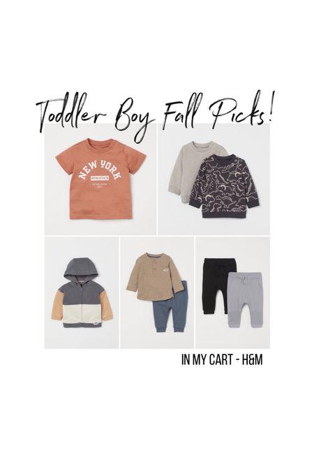 Toddler Boy Fall Picks from H&M! What's in my cart: Everything under $25!    #LTKkids #LTKunder50 #LTKbaby