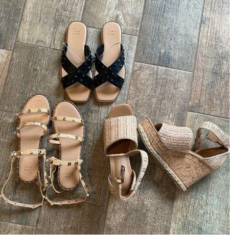 Target shoes for spring and summer sandals Steve Madden studded sandal dupe slide Marc fisher wedge dupe   #LTKSeasonal #LTKunder50 #LTKshoecrush