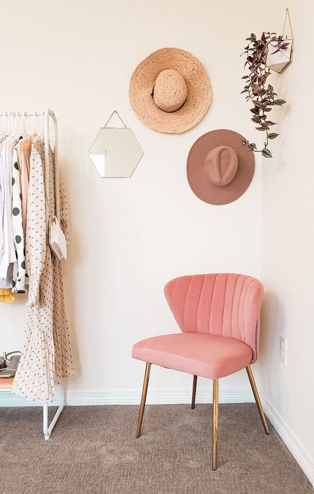 I got the perfect blush accent chair and it's only for $100. I love the quality and golden legs which gives you luxury experience. #homedecor #accentchair #officedecor #springdecor  #LTKhome #LTKunder100 #LTKstyletip