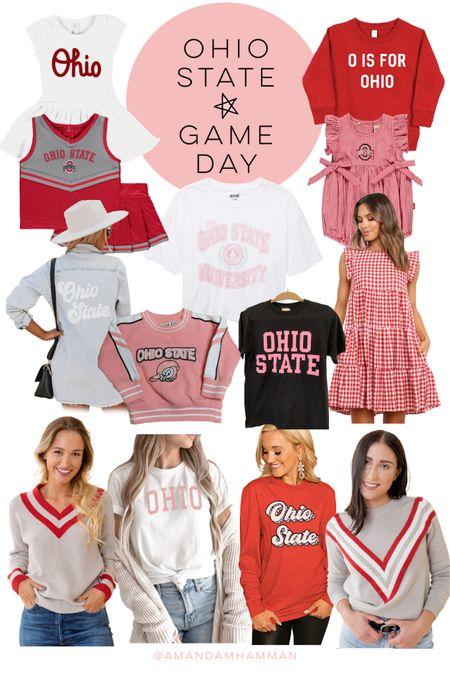 Ohio state game day looks, Ohio state, Buckeyes, Ohio, football, game day, fall   #LTKfamily #LTKunder50 #LTKSeasonal