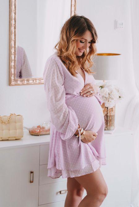Perfect Pregnant Summer Dress 💜  #LTKunder50 #LTKstyletip #LTKbaby