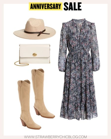 Love pairing knee high boots with a maxi dress for those cooler days of fall. Added this Coach crossbody purse and rancher hat to finish the look.   #LTKstyletip #LTKSeasonal