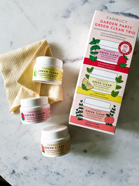 Farmacy trio cleanser.  This is hands down one of my favorite cleansers, and it's even better when you get to gift it to others!  This set is a trio of the same cleansing balm in different flavors, and you can either gift the set, or break it up for multiple gifts! This balm starts as a wax, turns into an oil to dissolve makeup, and transforms into a beautiful milk when you add water.  Farmacy is a clean beauty brand that is on the way to 100% zero waste packaging by 2022 and uses conflict free ingredients.  #ecofriendly #cleanser   #LTKGiftGuide