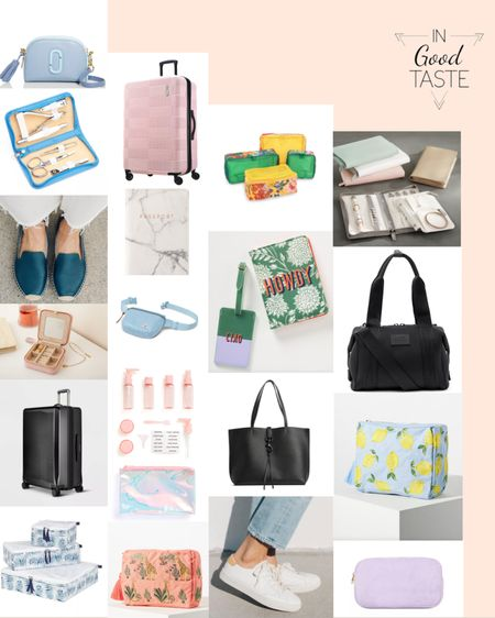 Planning travel can be a bit overwhelming... I have put together my list of essentials to make packing and traveling super easy!! The toiletry bottles with labels, the neoprene duffle, the white sneaks, the denim fanny pack and the jewelry binder are my top picks! http://liketk.it/3jjuO #liketkit @liketoknow.it #LTKtravel