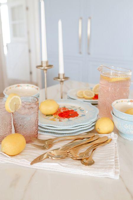 Beautiful blue floral dinnerware from Walmart - pioneer woman       #LTKhome