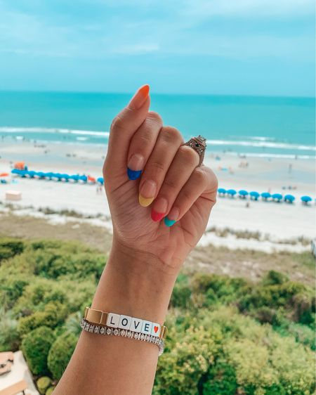 Colorful French almond nails 🎨 @liketoknow.it http://liketk.it/3h5pv #liketkit #LTKDay #LTKtravel #summernails2021 #summernails #nailinspo #nailinspiration #hellotravelblog #vacaynails #myrtlebeach #almondnails #thestyledcollection #mystyle #styleblog #ohioblogger #americanstyle #boycottboringnails #nails